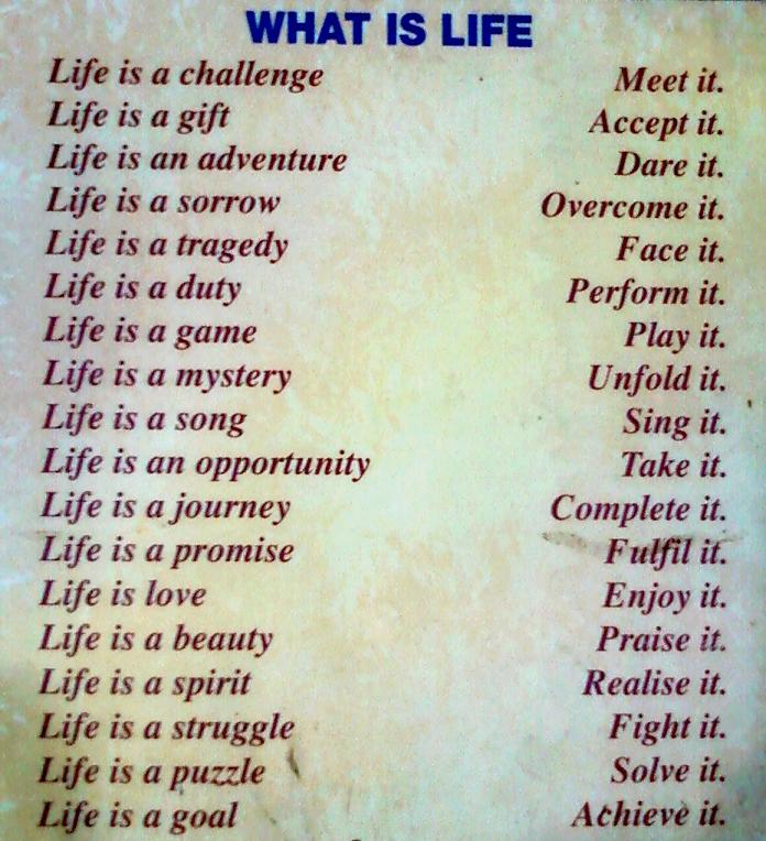 Definition Of Life | Words Of Wisdom